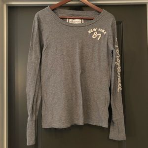 Aeropostale Womens Gray Long Sleeve Shirt Size XL